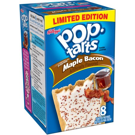 Kellogg's Pop-Tarts Frosted Maple Bacon Toaster Pastries, 8 count, 14 ...