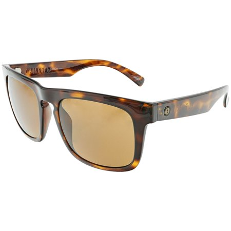Electric Men's Polarized Mainstay EE13610643 Brown Rectangle Sunglasses