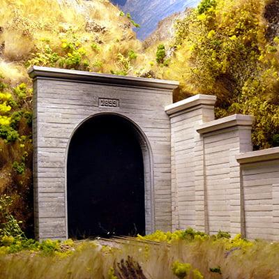 Chooch Enterprises 9920 O Single-Track Concrete Tunnel Portal