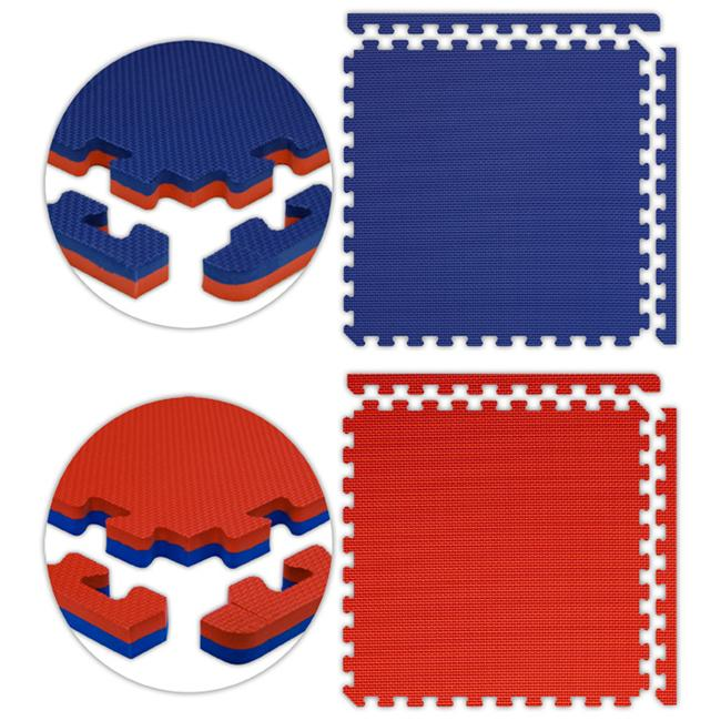 Alessco JSFRRDRB1636 Jumbo Reversible SoftFloors -Red-Royal Blue -16  x 36  Set