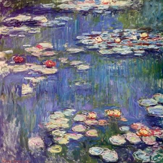 Water Lilies 1914 Rolled Canvas Art - Claude Monet (12 x 12)