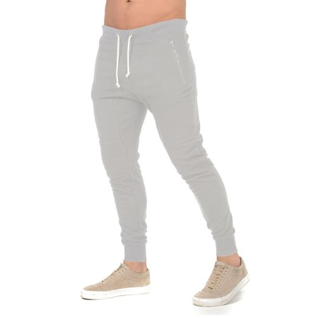 New Mens Slim Fit Pants Long Trousers Tracksuit Training Skinny Joggers Trousers ()