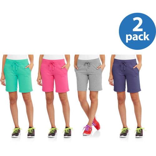 Danskin Now Women's Active French Terry Bermuda Short 2pk Value Bundle