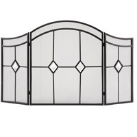 Pleasant Hearth 3-Panel Arched Diamond Fireplace Screen