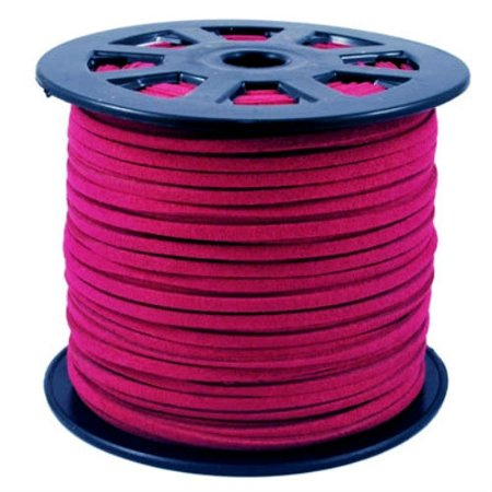 Cerise Jewelry - Faux Leather Suede Beading Cord, Cerise Pink (10 feet)