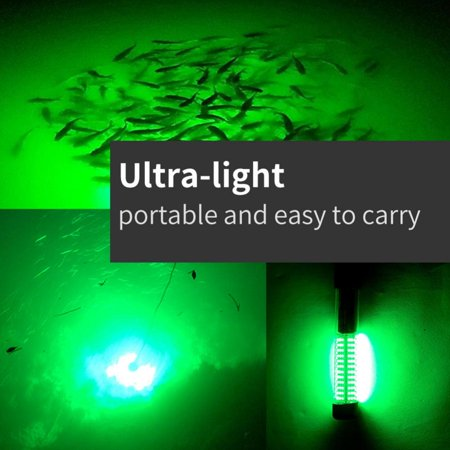 HURRISE Underwater LED Light,Electronic Fish Attraction LED Light Night Fishing Bait Lures