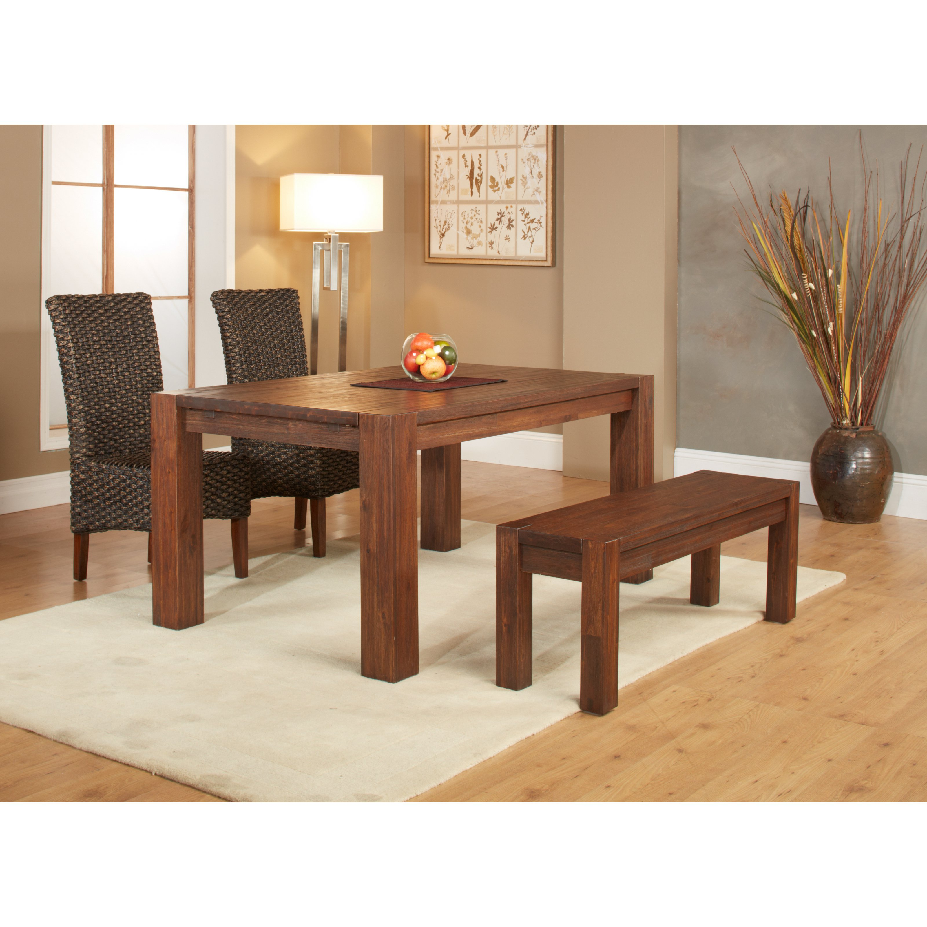 Modus 4 Piece Meadow Dining Table Set with Bench by Modus Furniture International
