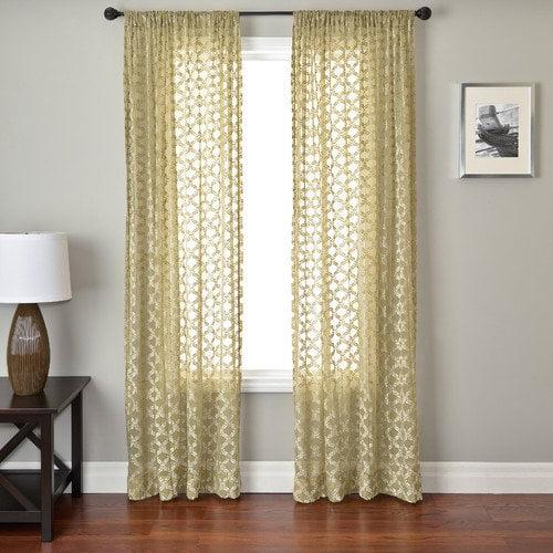 Softline Home Fashions Mezzo Curtain Panel in Sage