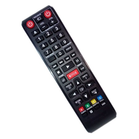 Replaced Remote Control Compatible for Samsung BD-EM59C BDE5700 BD-E6500 BD-ES6000/ZA BD-FM59C BD Blu-Ray DVD Disc Player