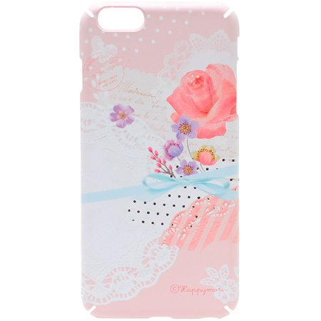 HAPPYMORI Doily Flower Case for Apple iPhone 6 Plus, Pink ()