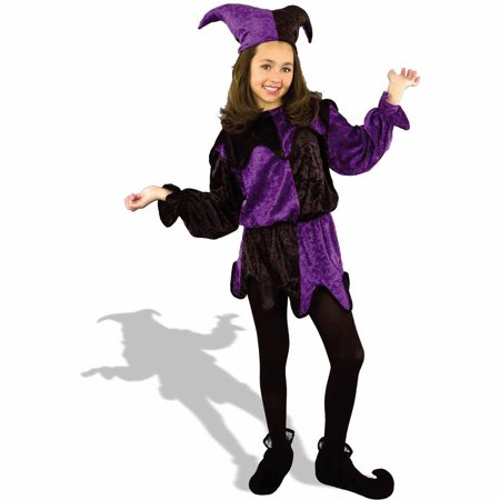 Jester Child Halloween Costume - Evil Jester Halloween Makeup