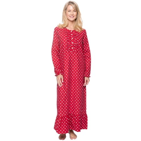 Noble Mount Women's Premium 100% Cotton Flannel Long Gown ()