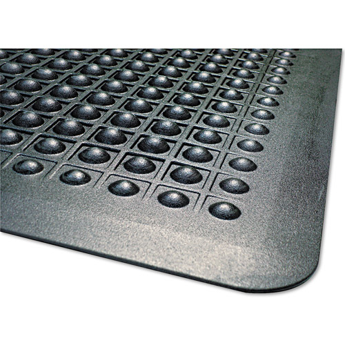 Guardian Flexstep Antifatigue Polypropylene Rubber Mat, 36 X 60, Black
