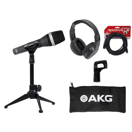 AKG D5 C Pro Dynamic Cardioid Vocal Microphone D5C+Desk Stand+Headphones+Cable