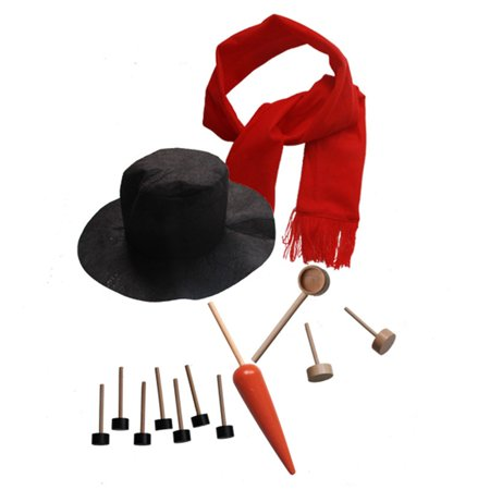 Snowman Dressed up Kit for DIY Home Decoration Christmas New Year Outdoor Game Tools in Winter