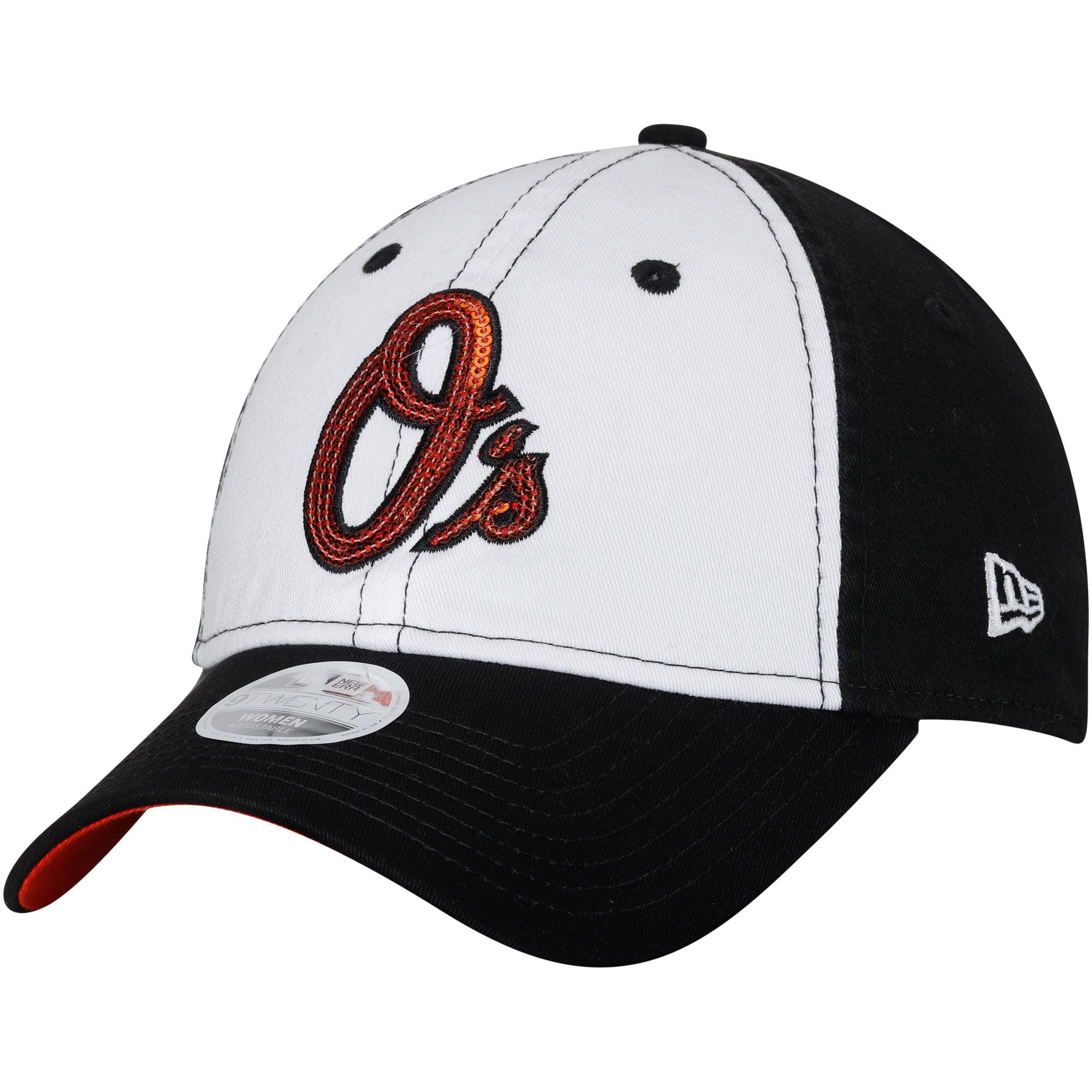 Baltimore Orioles New Era Women's Team Glimmer 9TWENTY Adjustable Hat - White/Black - OSFA