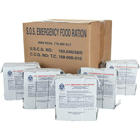 Dried Food Shelf Life (S.O.S. Rations Emergency 3600 Calorie Food Bar - 3 Day / 72 Hour Package with 5 Year Shelf Life- FULL CASE)