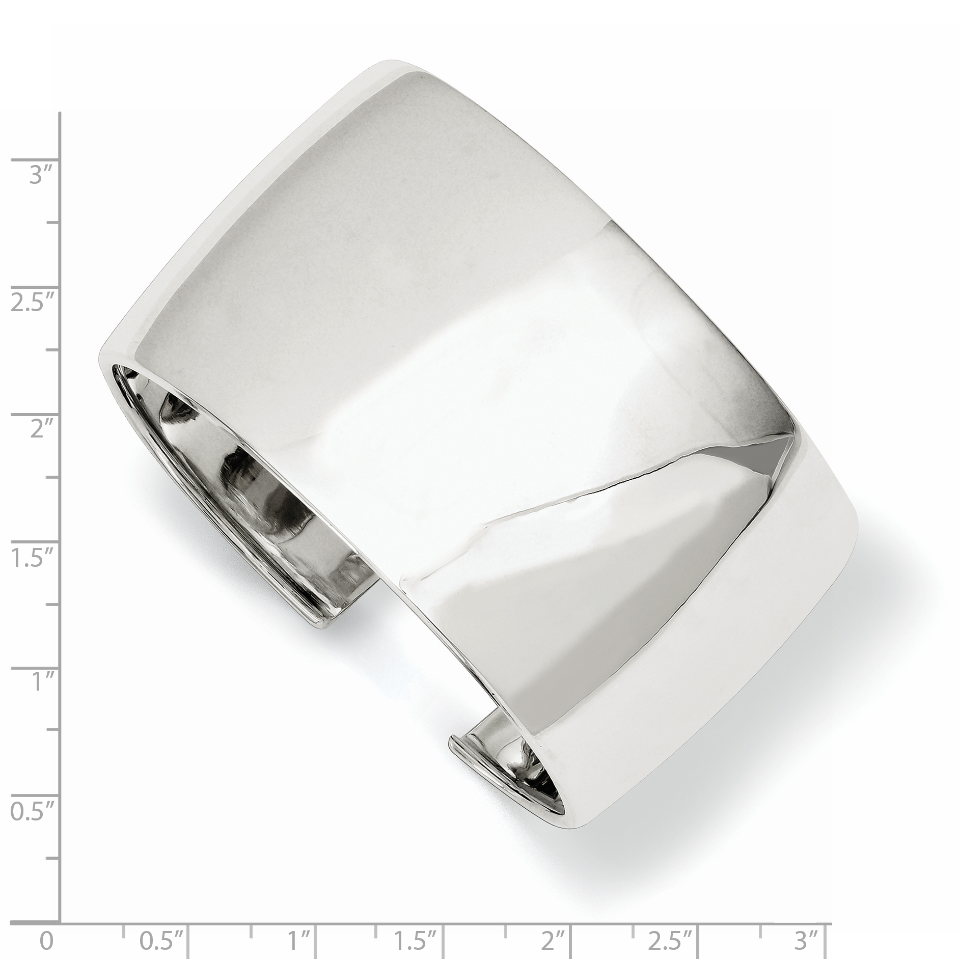 925 Sterling Silver 40mm Cuff Bangle Bracelet Expandable Stackable Fine Jewelry Gifts For Women For Her - image 1 of 2