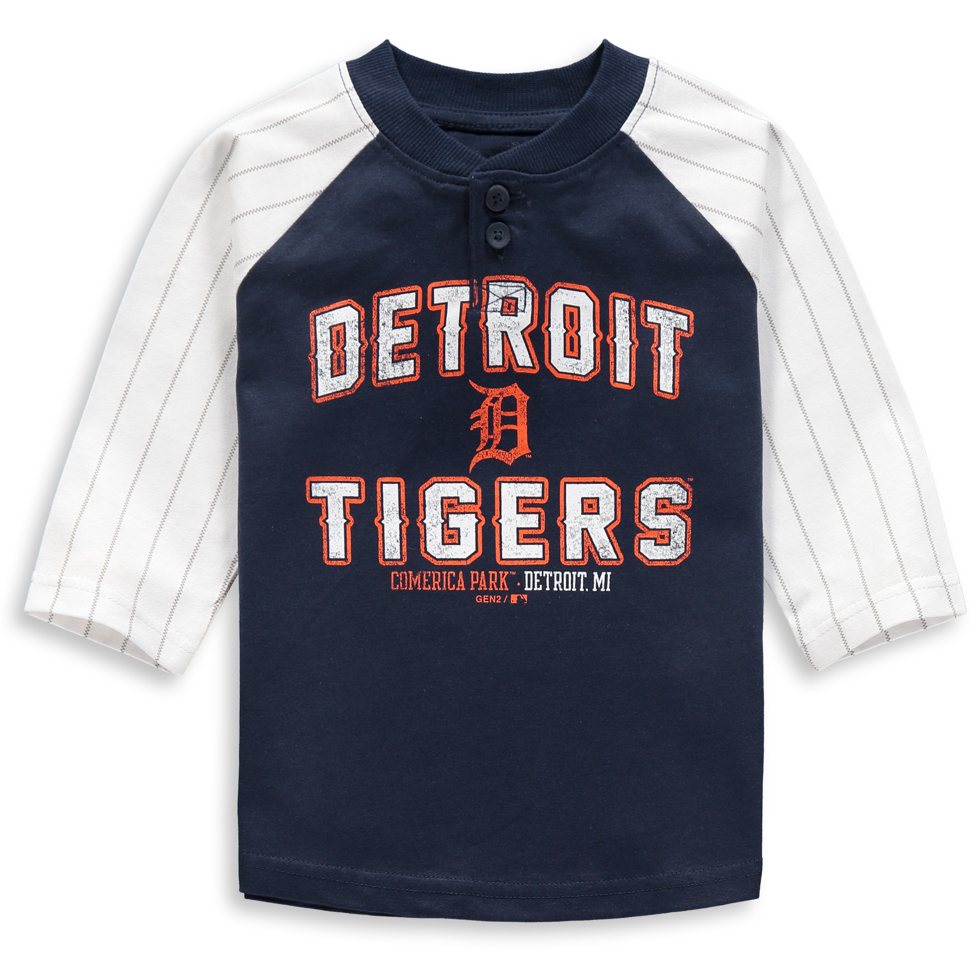 Detroit Tigers Toddler The Original 3/4-Sleeve T-Shirt - Navy