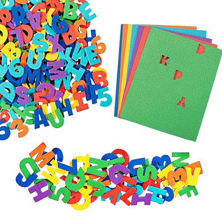 Play Kreative Self-Adhesive Foam Letters & Numbers - 504 pcs - Assorted Colors - Big Foam Letters