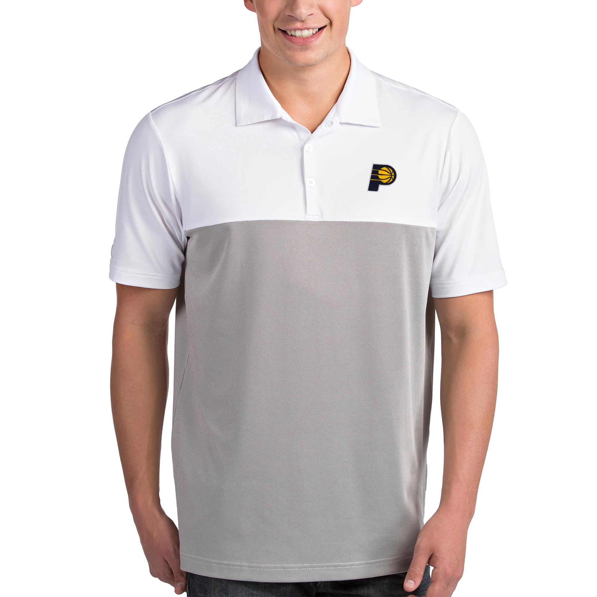 Indiana Pacers Antigua Venture Polo - White/Gray