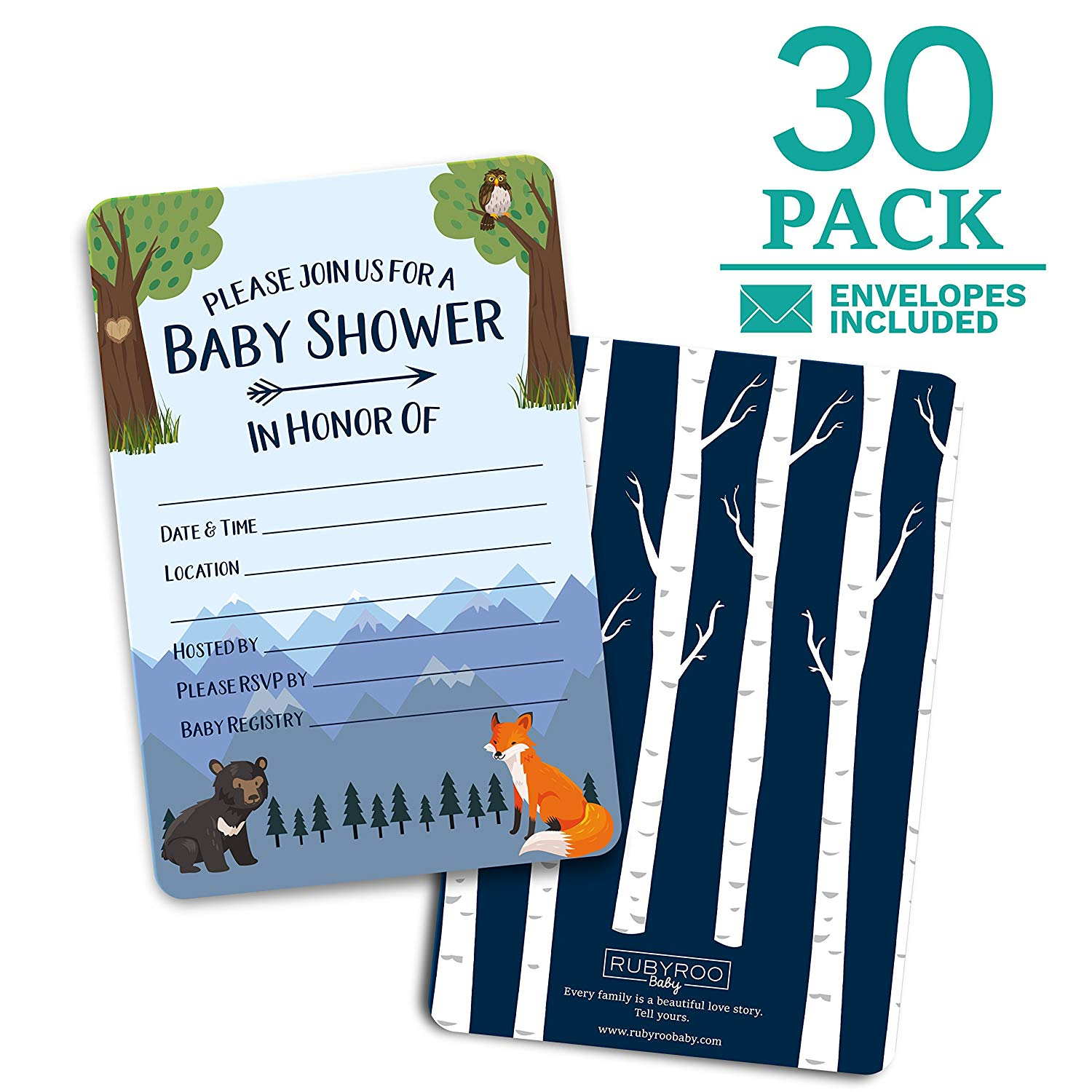 Baby Boy Bear Multi Pack 36 Thank You For The Baby Gift Cards /& Envelopes