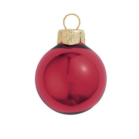 Northlight 8ct Shiny Glass Ball Christmas Ornament Set 3.25