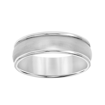 Titanium Double Line Wedding Band, 7mm