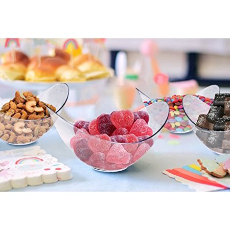 Mini Clear Plastic Party Bowls. Pack Includes 48 Elegant And Disposable Candy Dishes That Are Great For Parties!! - Plastic Party Bowls