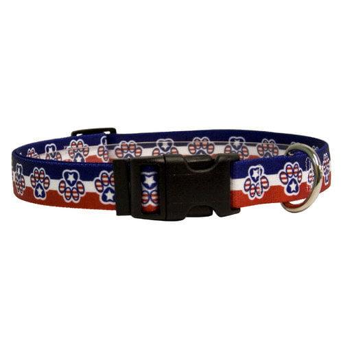 Yellow Dog Design PP101S Patriotic Paws Standard Collar - Small