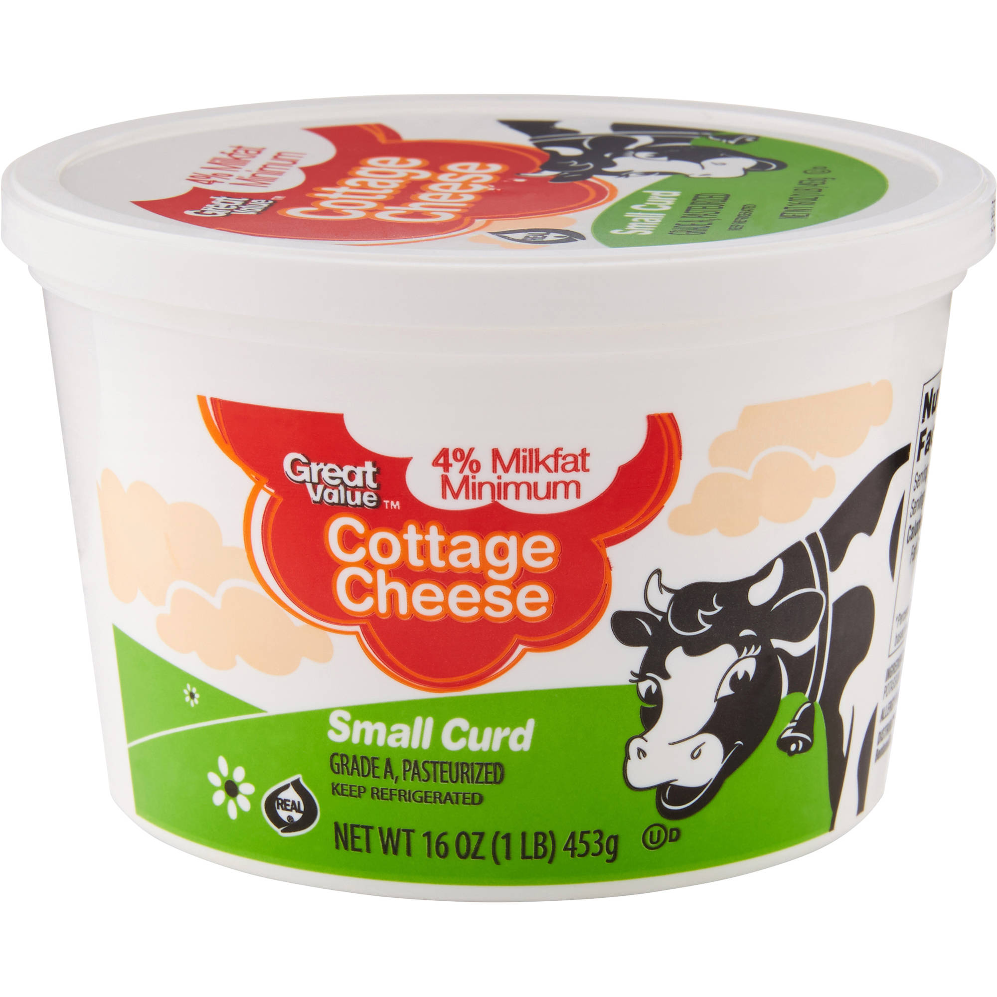 Cool Great Value 4 Milkfat Minimum Small Curd Cottage Cheese 24 Oz Home Remodeling Inspirations Cosmcuboardxyz