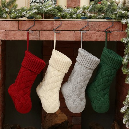 Christmas Stocking Fashion Knitted Hanging Decor Decoration for Xmas Tree ()