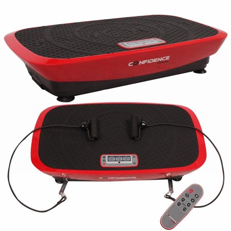 Confidence VibeSlim Vibration Fitness Trainer Plate w/ Straps + Remote (Best Home Vibration Plate)