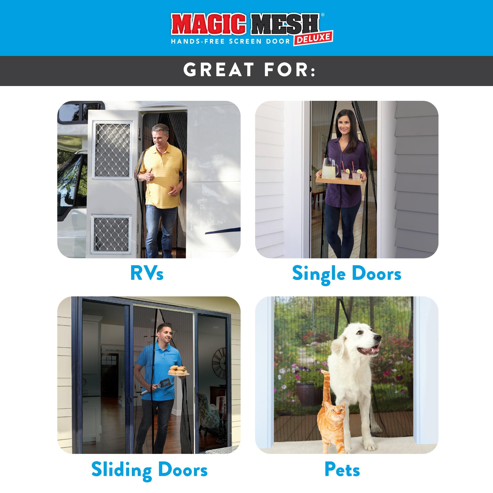 Magic Mesh Deluxe Magnetic Hands Free Screen Door Cover As Seen on TV