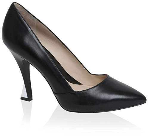 Carolina Espinosa Women's Agnes Pump, Black Leather, 6.5 M US by Carolina Espinosa