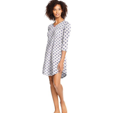 Hanes Women's Knit V-Neck Sleepshirt HAC80119