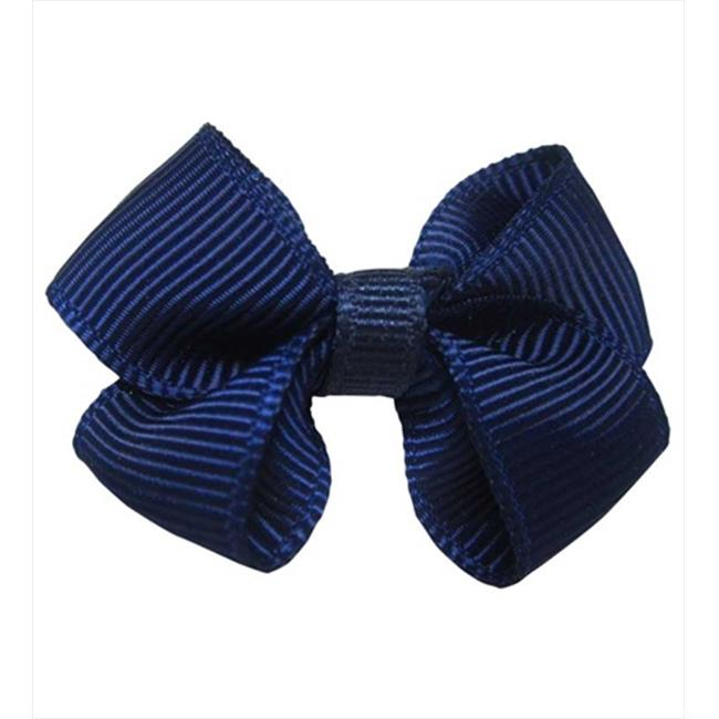 CoverYourHair 60284 Navy Small Solid Bow Hair Clip