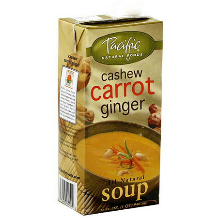 Pacific Natural Foods Natural Cashew Carrot Ginger Soup, 32 oz (Pack ...