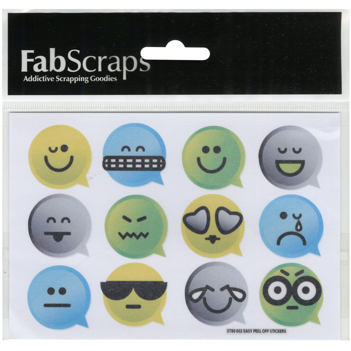 FabScraps #Teens Vinyl Stickers-Emojis