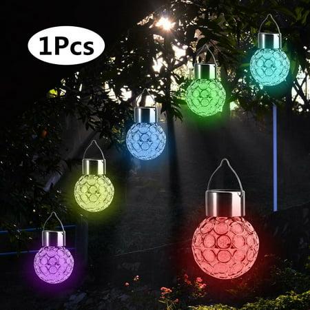 FAGINEY Colorful Solar Powered LED Hanging Light Waterproof Outdoor Yard Garden Decoration Lamp New, Outdoor Light, Yard Light ()