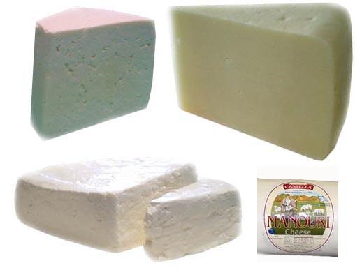 Greek Cheeses 4pc 2lb(Kefalotiri, Kasseri, Manouri, Feta) 0.5lb each by