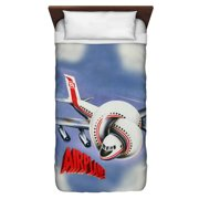 Airplane Poster Twin Duvet Cover White 68X88