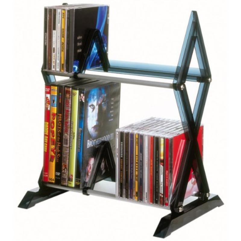 56-CD or 36-DVD Blu-ray, 2-Tier Mitsu Media Rack-GB1186 by Atlantic