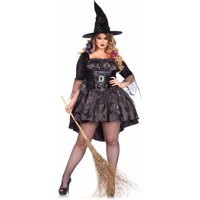 Leg Avenue Women's Plus Size Black Magic Witch Costume