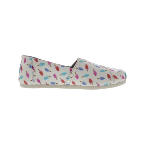 649fe26eea5 Toms - Toms Women s Classic Canvas White Popsicles Ankle-High Flat ...