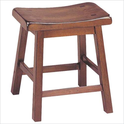 "ACME Furniture Gaucho 18"" Saddle Bar Stool in Walnut (Set of 2)"