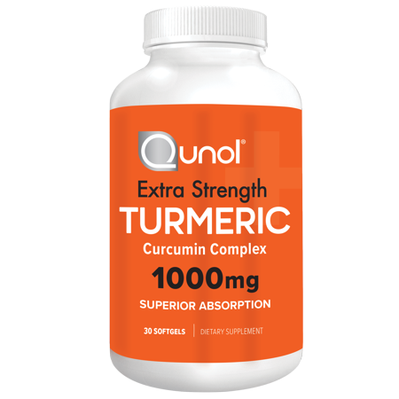 Qunol Turmeric Curcumin with Ultra High Absorption 1000mg for Joint Support, 30 Softgels (Ultra Joint Complex)