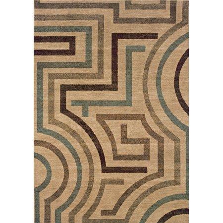 Sphinx Palermo Area Rugs - 2461E Contemporary Beige Maze Circuit Lines Rug