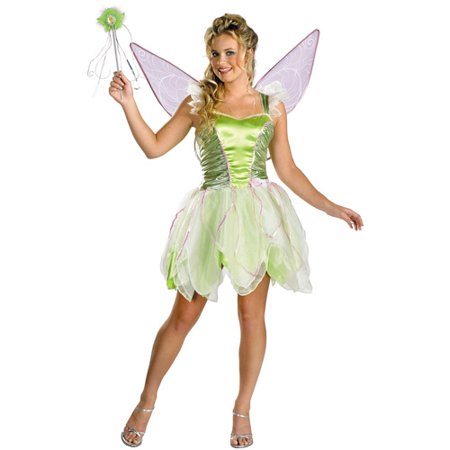 Tinker Bell Deluxe Teen Halloween Costume (Tinkerbell Costume For Toddler Girl)