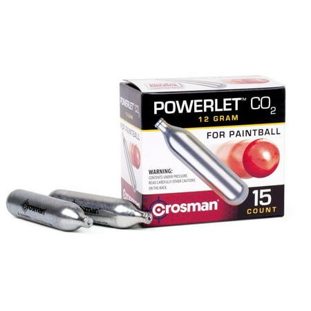 Crosman 12 gram Powerlet CC15PB 15 Count CO2 (Paintball Guns Pellets)